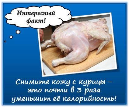 Как уменьшить калорийность курицы?
