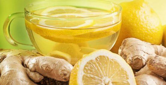 Вода с имбирем и лимоном