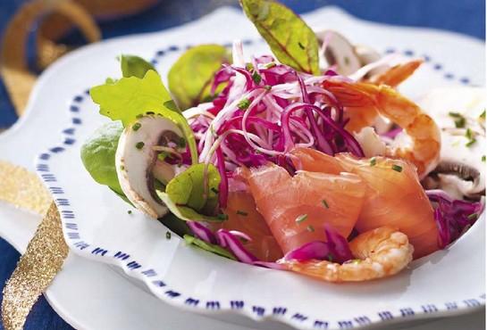 рецепт салата с семгой слабосоленой