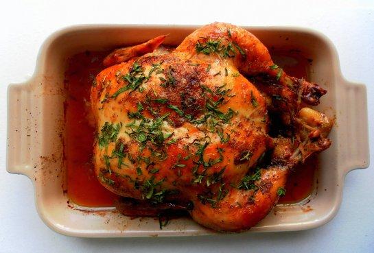 как запечь курицу целиком в духовке