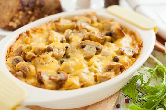 запеканка картофельная с грибами в духовке
