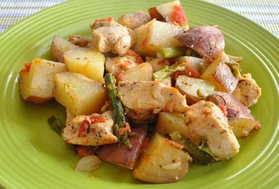 куриные грудки с картошкой в духовке