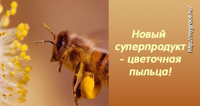 Новый суперпродукт - цветочная пыльца!